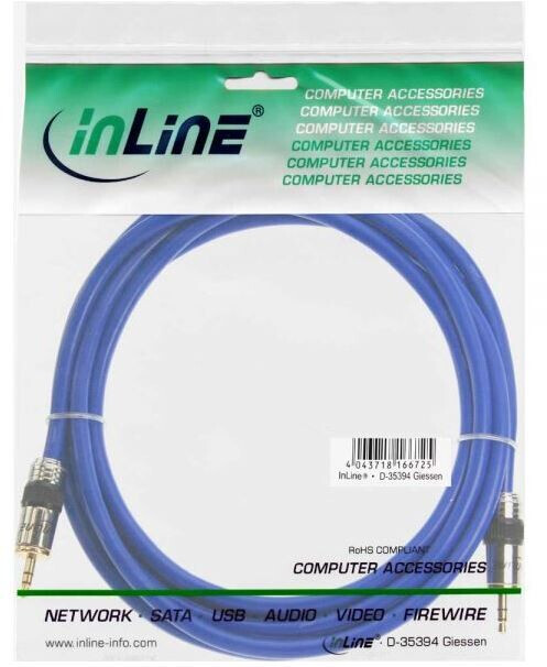 InLine Klinken-Kabel PREMIUM, 3,5mm Stecker / Stecker, 7m