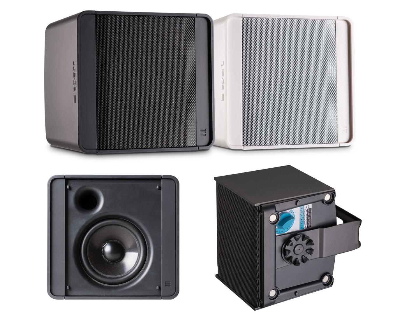 Apart KUBO3 Kompakter Fullrange-Gehäuselautsprecher, schwarz