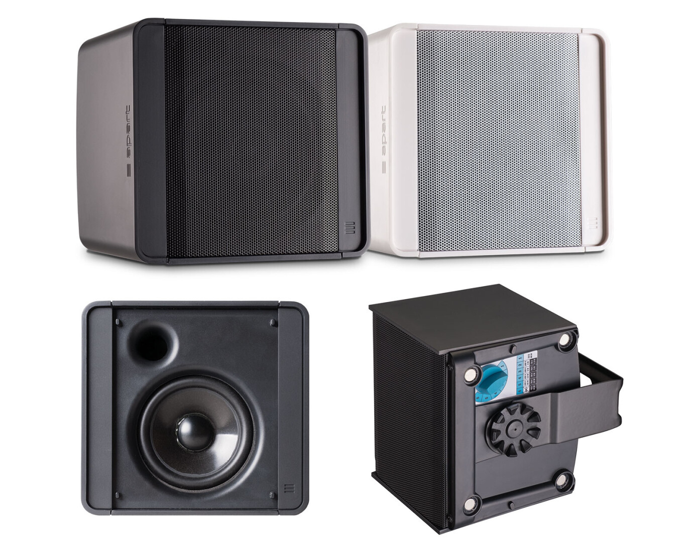 Apart KUBO3 Kompakter Fullrange-Gehäuselautsprecher, weiss