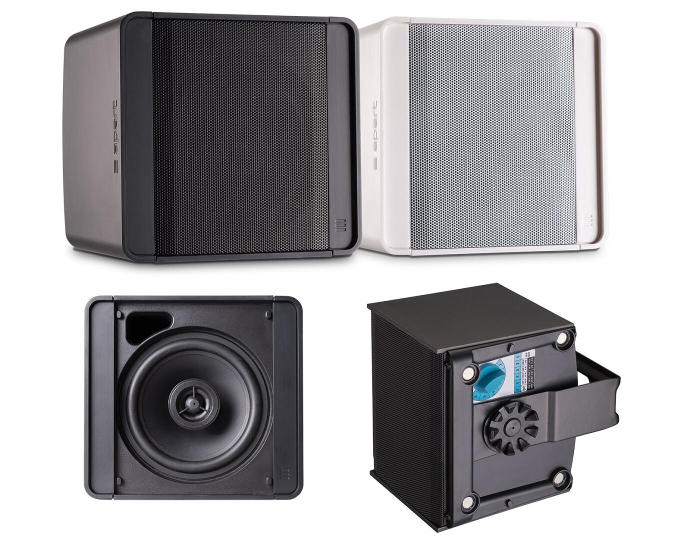 Apart KUBO5T-W Kompakter 100V Zwei-Wege-Gehäuselautsprecher, weiss