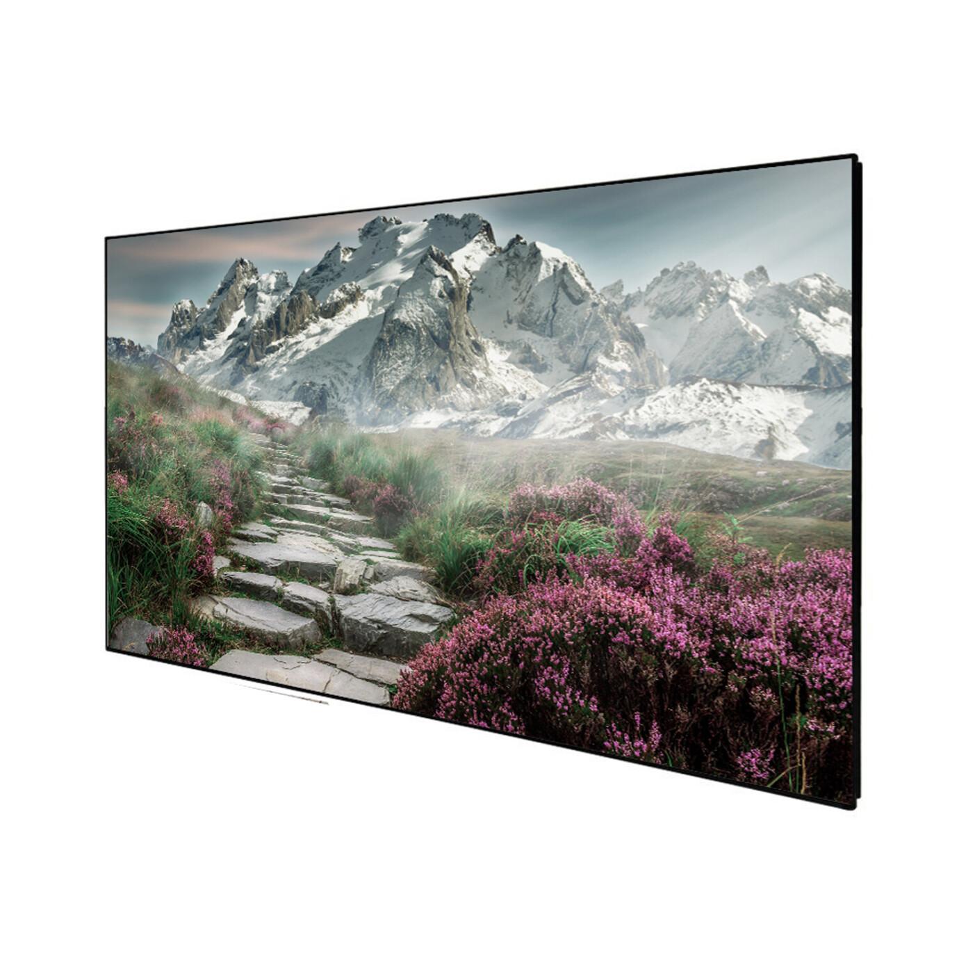 "Celexon DELUXX Cinema Frame screen SlimFrame 177cm x 99cm, 80"" Diag - SOUNDVISION Acoustic Transparent Fixed Frame Screen"