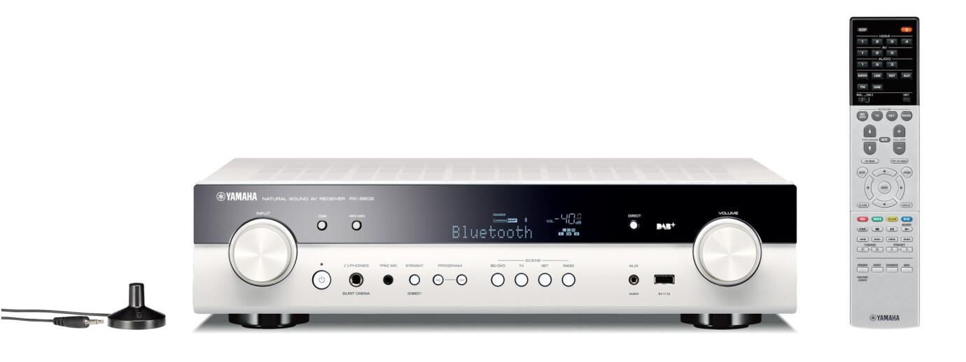 Yamaha RX-S602D 5.1-Kanal Netzwerk-AV-Receiver, weiss