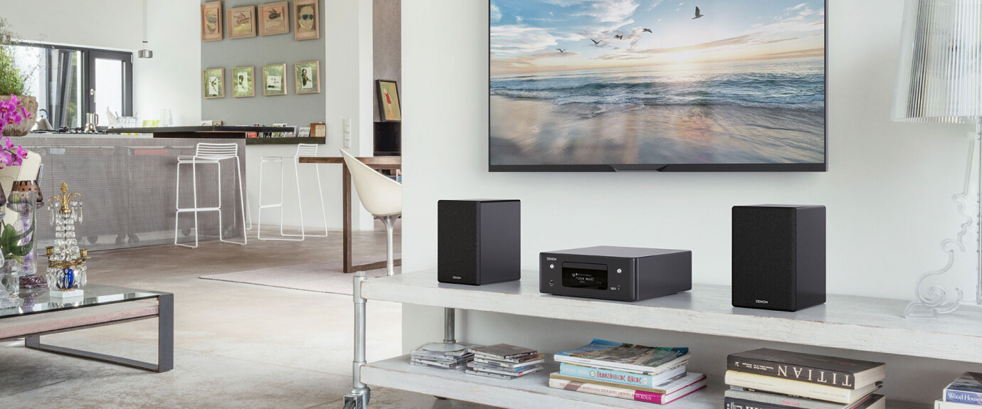 Denon CEOL-N10 Hi-Fi Netzwerk CD Receiver, schwarz