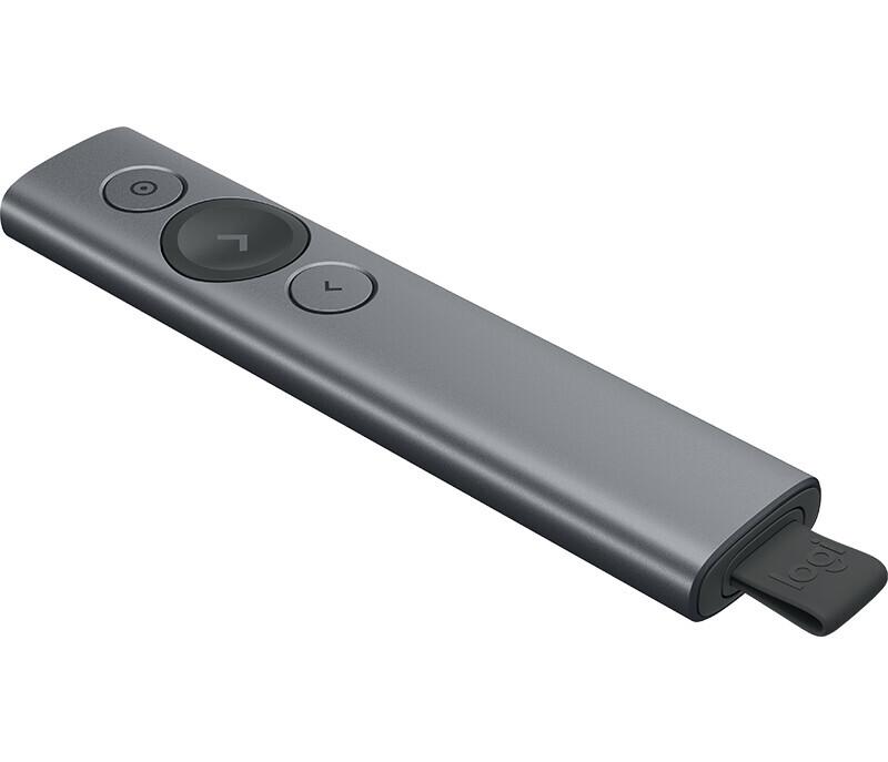 Logitech Spotlight Puntero presentaciones Bluetooth, 2,4GHz, 30m