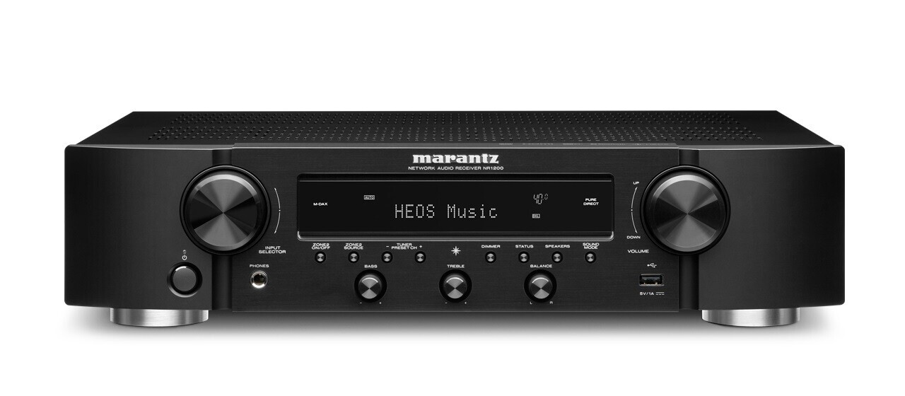 Marantz NR1200 schwarz Stereo-Netzwerk-Receiver im Slim Design