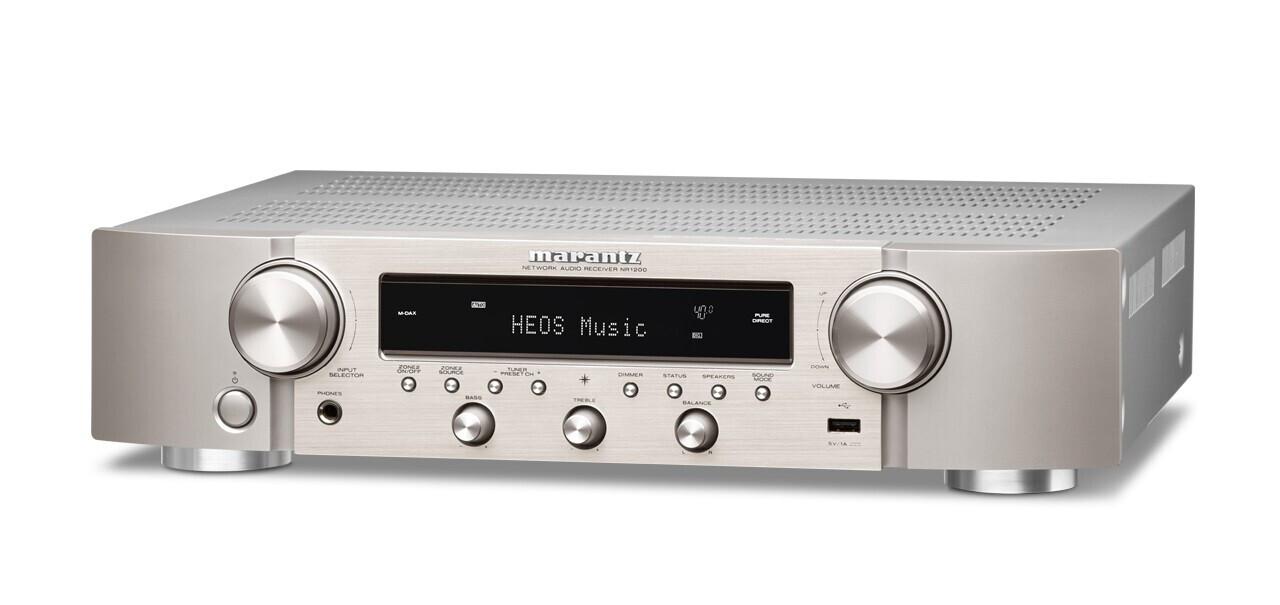 Marantz NR1200 silbergold Stereo-Netzwerk-Receiver im Slim Design