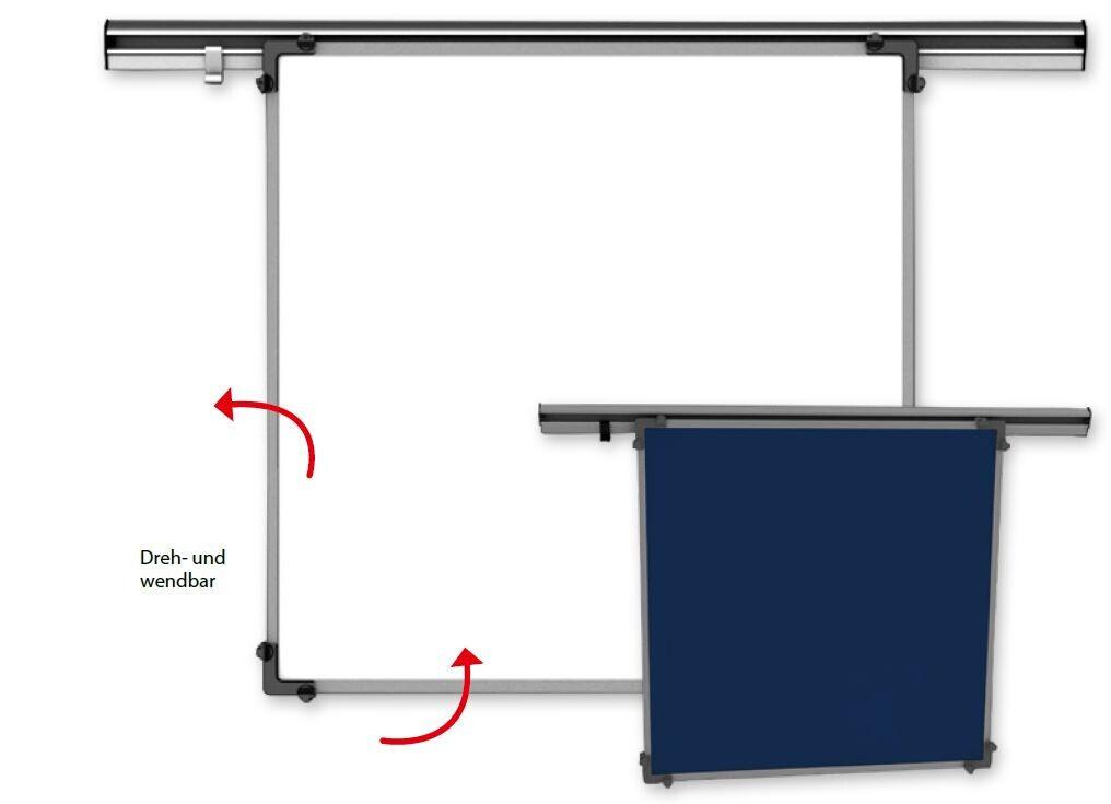 KROmedia Schreibtafel Emaille weiß, beidseitig 80/100 cm