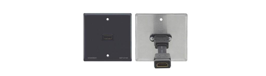 Kramer WP-H1M Wand–Anschlussfeld für HDMI (passive Durchleitung) - grau