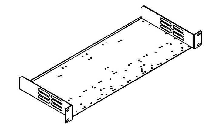 Kramer RK-1 19–Zoll–Rackadapter für versch.Desktopgeräte und MultiTOOLS