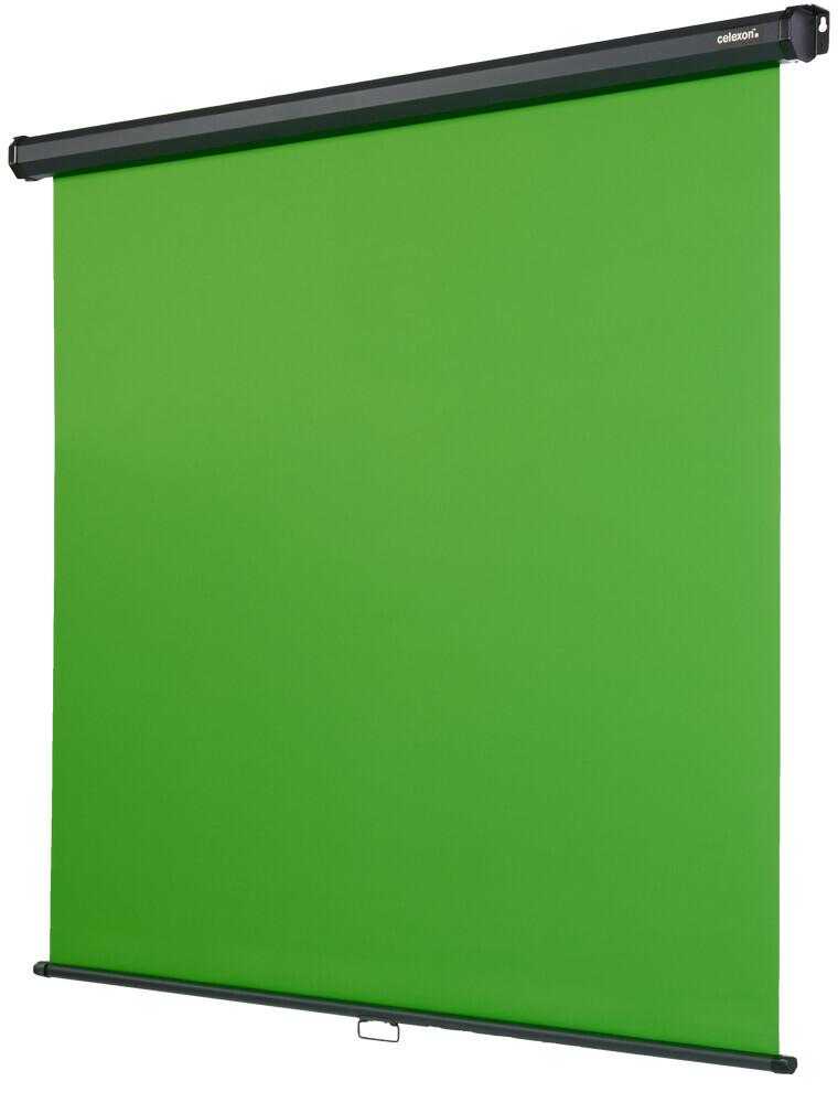 Celexon Manual Chroma Key Green Screen - 200 x 190 cm - Manual Pull Down Screen