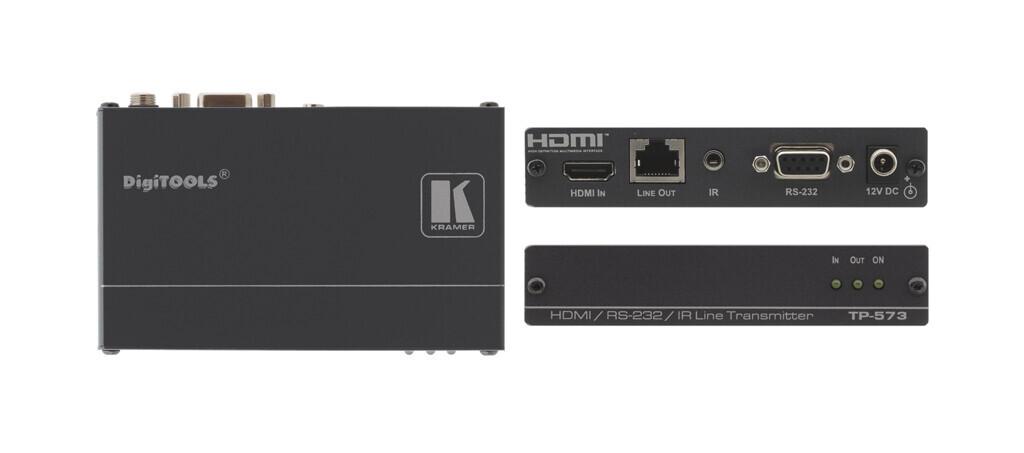 Kramer TP-573 HDMI-CAT Sender / Transmitter mit IR und RS232 (1x HDMI auf 1x CAT) - Demoware