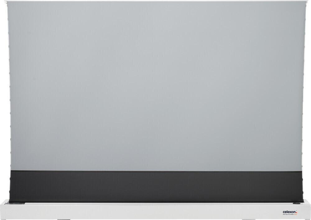 "Celexon CLR HomeCinema UST - 243cm x 137cm - 16:9 - High Contrast Electric Floor Screen 110"", 243 x 137cm – White"