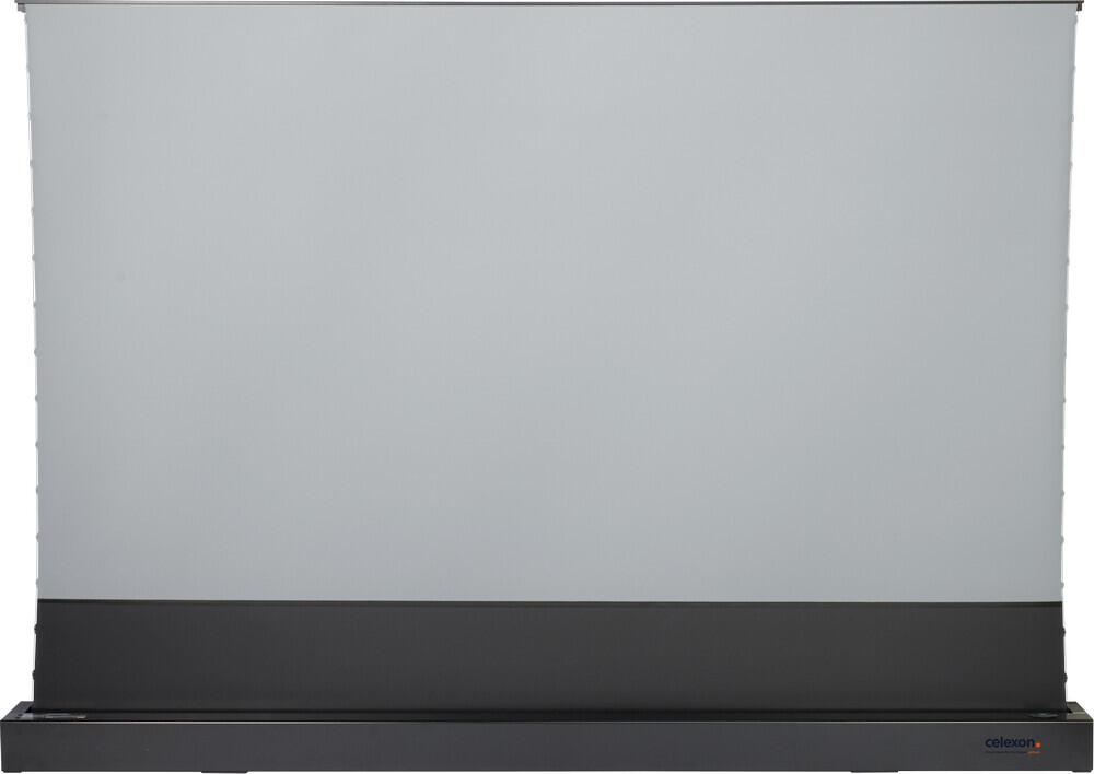 "Celexon CLR HomeCinema UST High Contrast Electric Floor Screen - 243cm x 137cm - 110"" Diag Case Black"