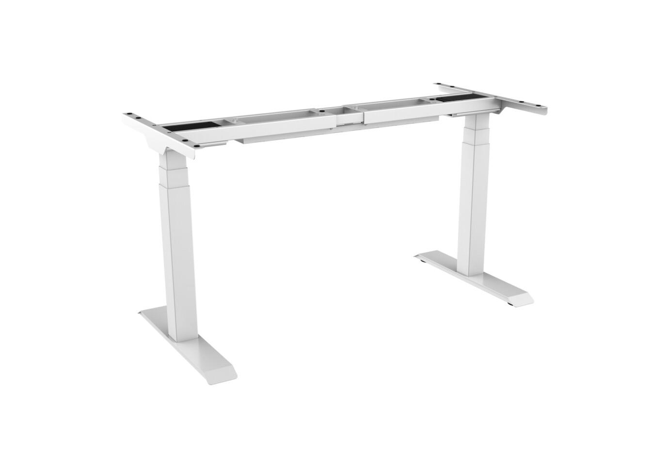 Cadre de bureau celexon PRO eAdjust-58123 réglable en hauteur électriquement - 58 - 123 cm, blanc