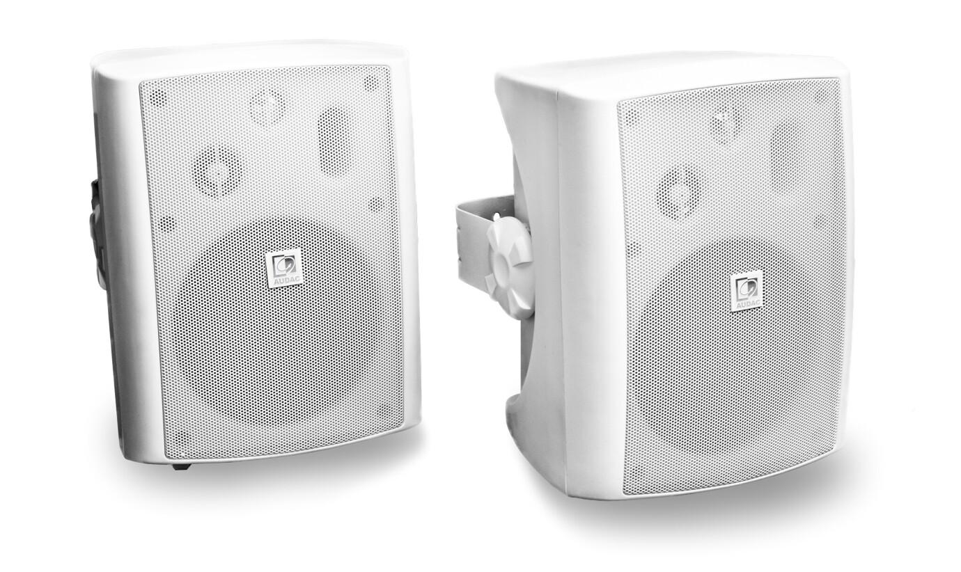 AUDAC LX503 - 2x40 W Aktiv-Lautsprecherset, weiß