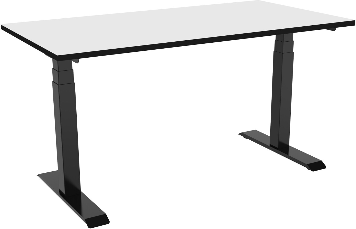 celexon elektrisch höhenverstellbarer Schreibtisch Professional eAdjust-58123 - schwarz, inkl. HPL Tischplatte 125 x 75 cm
