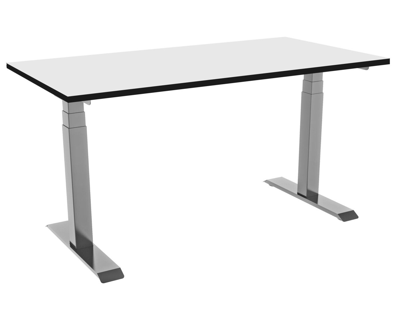 celexon elektrisch höhenverstellbarer Schreibtisch Professional eAdjust-58123 - grau, inkl. HPL Tischplatte 150 x 75 cm