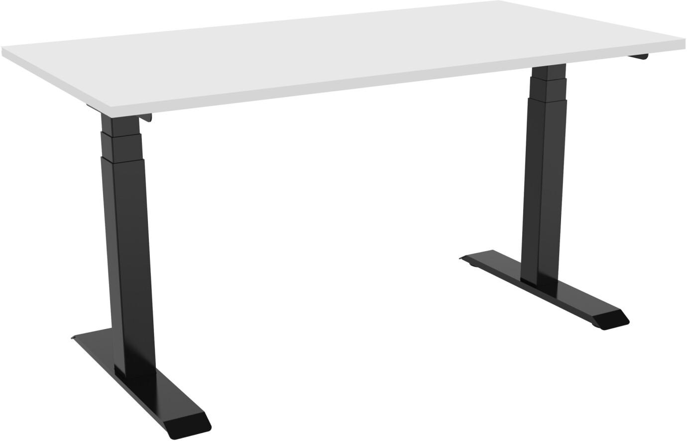 celexon elektrisch höhenverstellbarer Schreibtisch Professional eAdjust-58123 - schwarz, inkl. Tischplatte 125 x 75 cm