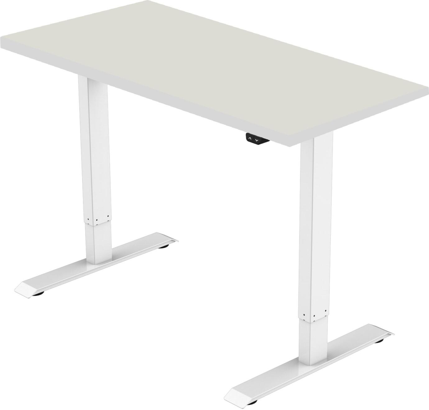 celexon elektrisch höhenverstellbarer Schreibtisch Economy eAdjust-71121 - weiß, inkl. Tischplatte 150 x 75 cm