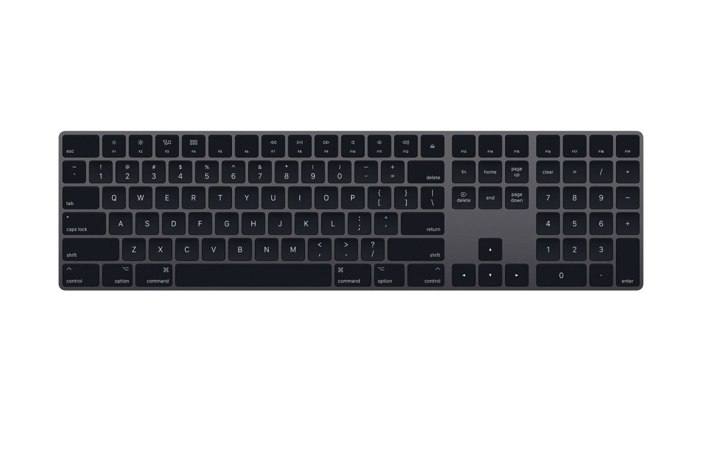 Apple Magic Keyboard mit Nummernblock - Space Grau