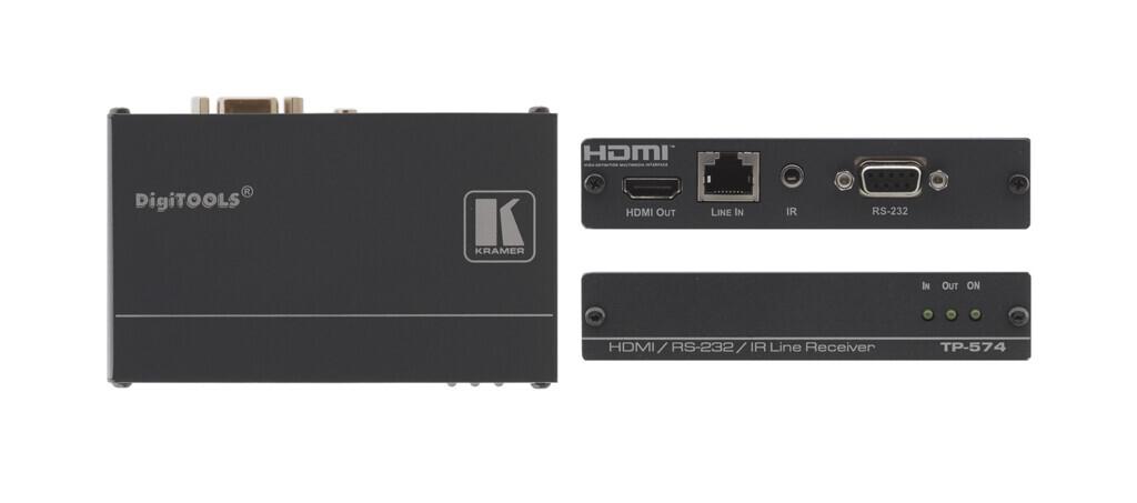 Kramer TP-574 HDMI-CAT Empfaenger / Receiver mit IR und RS232 (1x CAT auf 1x HDMI) - Demoware