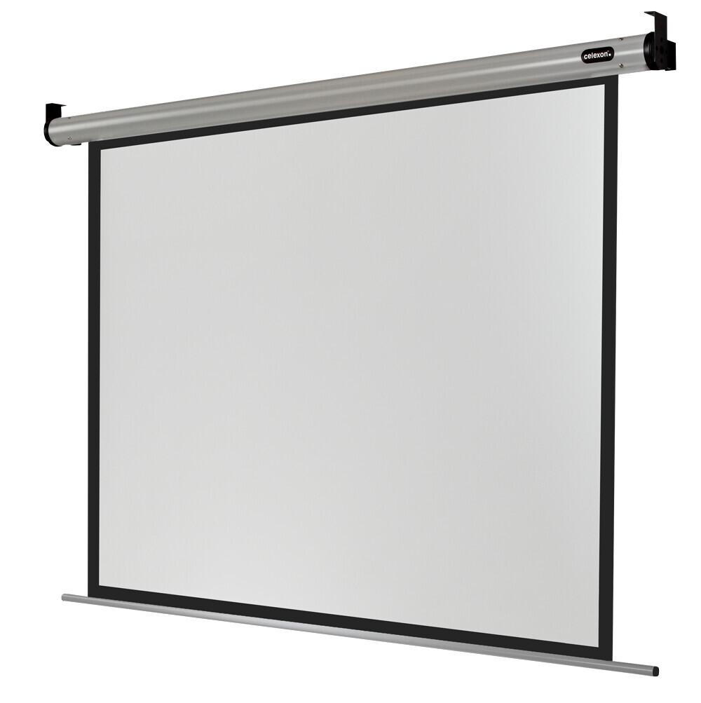celexon schermo da proiezione Motor HomeCinema 240 x 180 cm | formato 4:3 | schermo per proiettore con ottima planarità | fattore Gain 1,2 ideale per l'homecinema e le presentazioni | fissaggio a parete o a soffitto