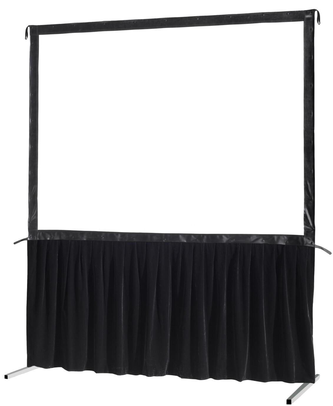 celexon Vorhangset 1-seitig für Faltrahmenleinwand Mobil Expert 203 x 152 cm