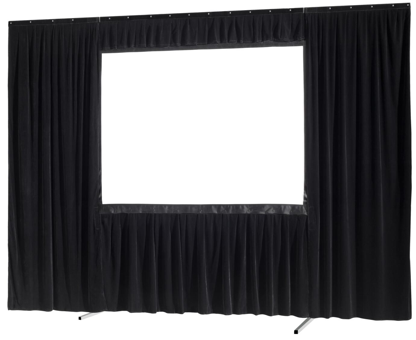 celexon Vorhangset 4-seitig für Faltrahmenleinwand Mobil Expert 244 x 137 cm