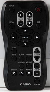 Afstandbediening voor Casio XJ-A Serie