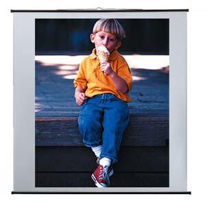 Reflecta projector screen in landscape format 250 x 190 cm
