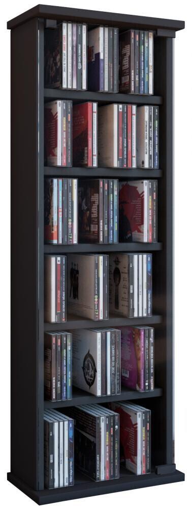 VCM CD / DVD Möbel Vetro - Schrank / Regal in 7 Farben: schwarz
