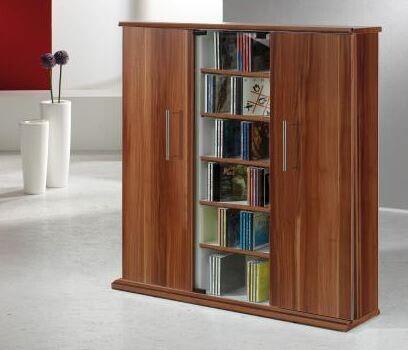 VCM Mueble para CD/DVD Santo - estante en 3 colores: núcleo de nogal