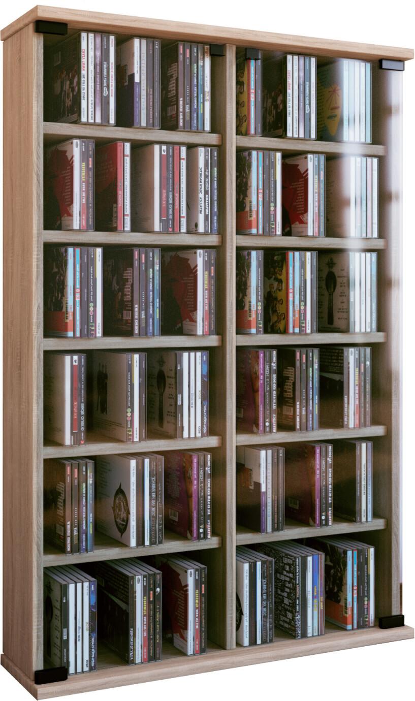 VCM CD / DVD Moebel Roma - Schrank / Regal in 6 Farben: sonoma-eiche (saegerau)