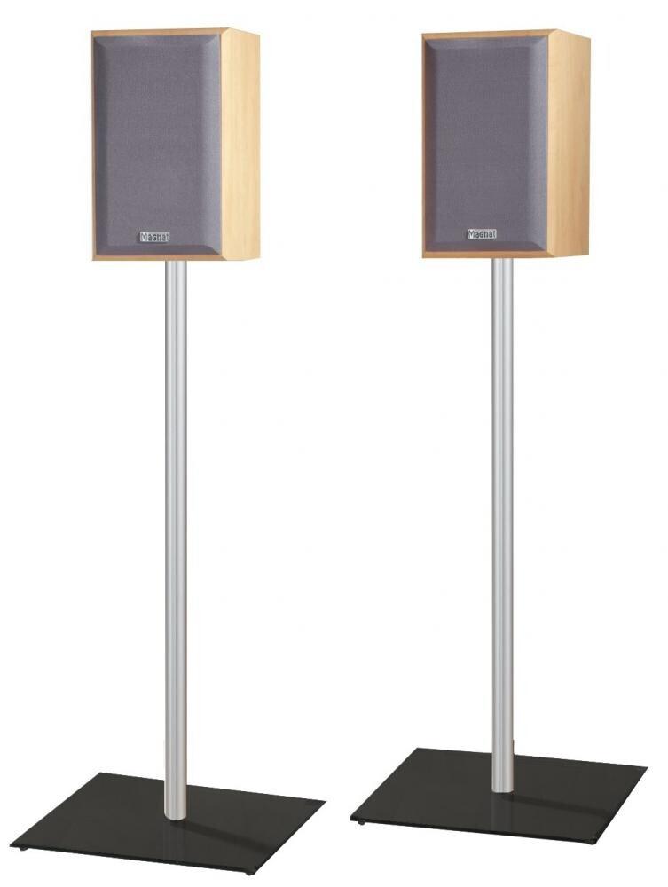 VCM 2x Surroundstands Sulivo Mini Schwarzglas 71 cm