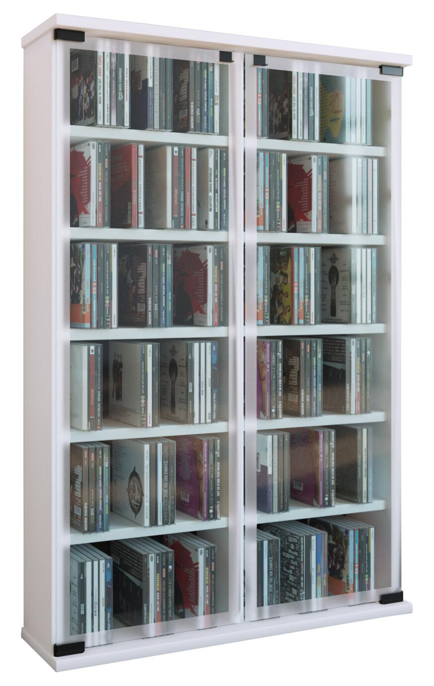 Vcm Cd Dvd Mobel Galerie Schrank Regal Weiss Beamershop24 De