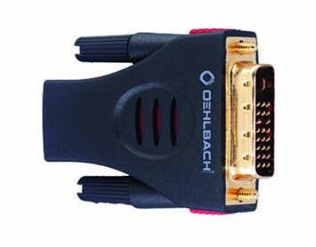 Oehlbach HDMI-DVI Adapter HDMI-Buchse auf DVI Stecker
