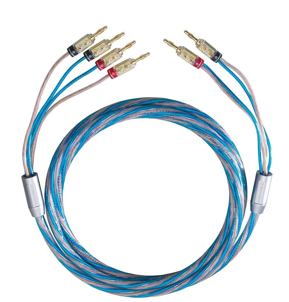 Oehlbach BI TECH 4 Bi-Wiring Kabel Set mit Bananas - 2 x 5,0 m