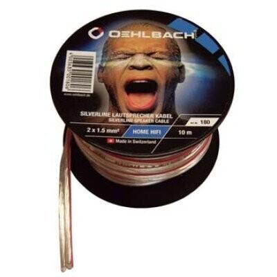 Oehlbach Silverline cable del altavoz a mini-coil 2 x 1,5 mm ² - 10 m