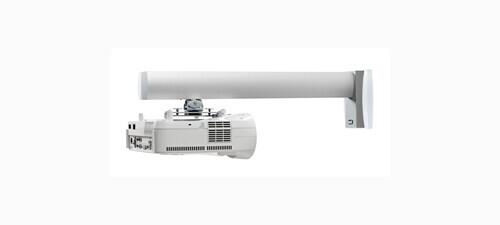 SMS Wandhalterung Short Throw V mit Säule 1200mm Aluminium/Weiß