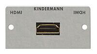 Kindermann Konnect 50 alu Anschlussblende HDMI Highspeed mit Ethernet
