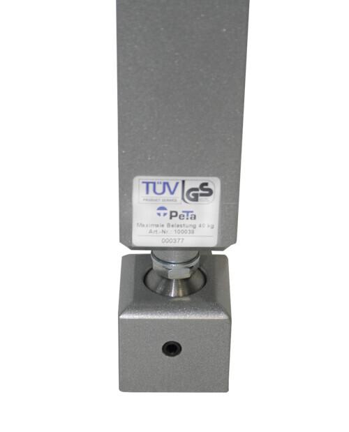 Rotule en acier PeTa pour les supports de plafond et mur PeTa jusqu'à max 40 kg