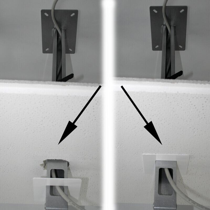 PeTa Rosette pour cacher les découpes du plafond, Diamètre 85mm, Noir