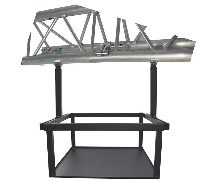 PeTa supporto per americane per proiettori di grandi dimensioni, altezza regolabile 40-70cm, morsetti con mezzo giunto, bianco