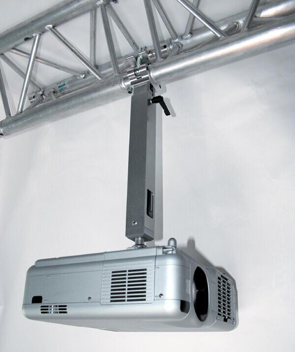 PeTa soporte de techo para vigas de metal (Trusses) - longitud variable 70-130 cm - antracita