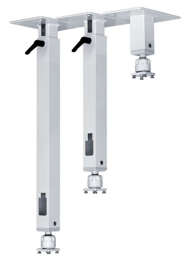 PeTa Deckenhalterung Standard mit Klemmhebel, feste Länge 7cm
