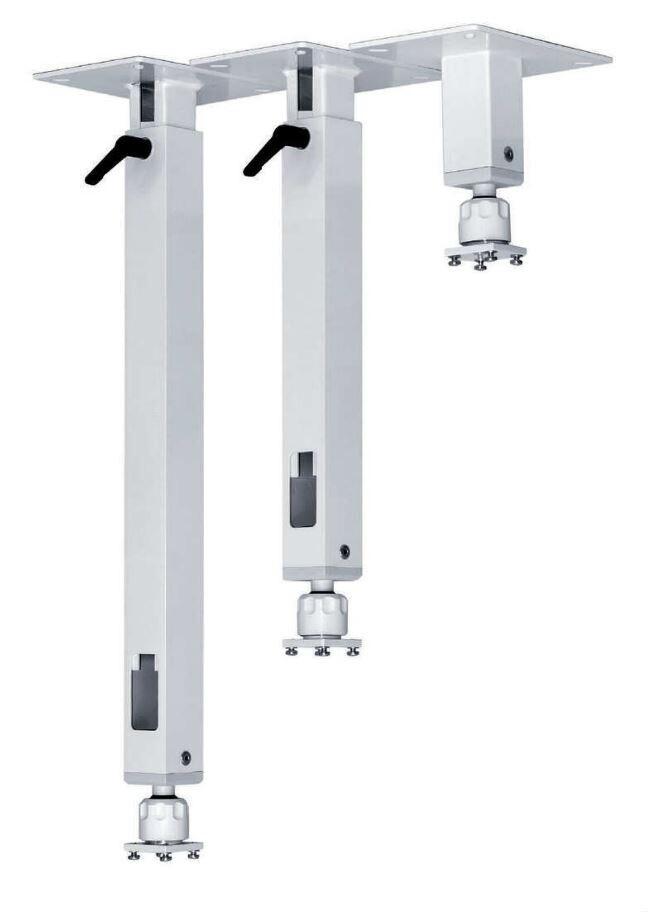 PeTa Deckenhalterung Standard mit Klemmhebel, feste Länge 15cm