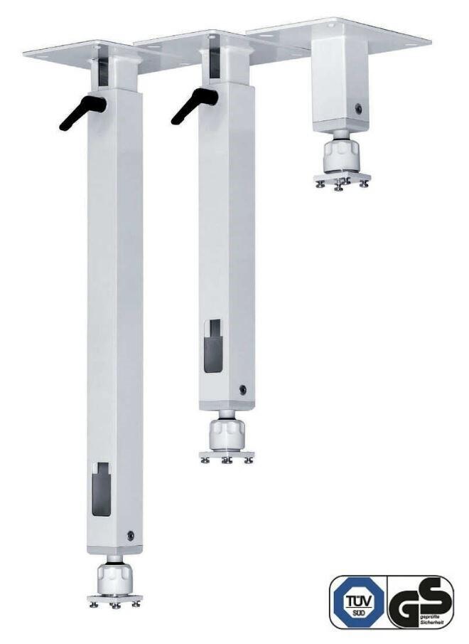 PeTa Deckenhalterung Standard mit Klemmhebel, variable Länge 200 - 300cm