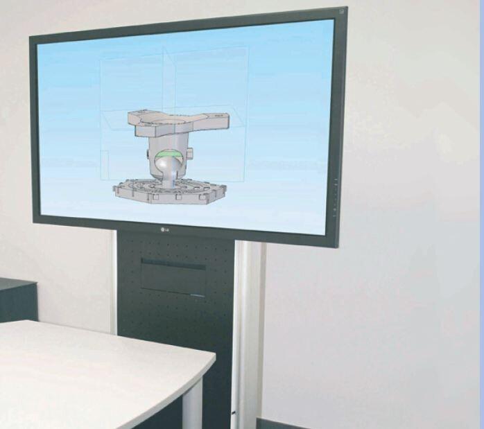 PeTa Carro de monitorización de convenciones para 2 sin carga
