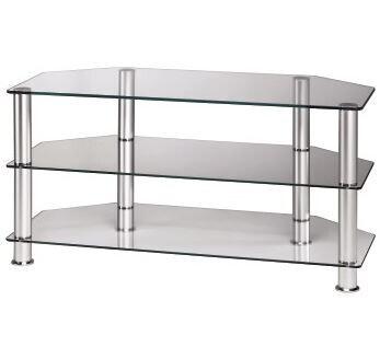 Hama Estantería para TV LCD/Plasma, 1000 mm, tres estantes, aluminio/vidrio transparente