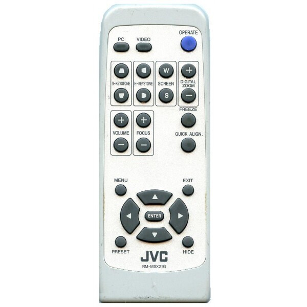 JVC DLA SX21 Replacement remote control